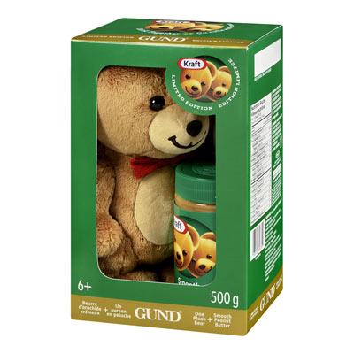 KRAFT 500 GR PEANUT BUTTER  PLUSH BEAR     1 JAR EACH