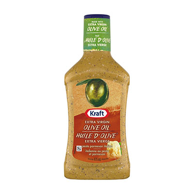 KRAFT  DRESSING PESTO PARMESAN ITALIAN WITH EXTRA VIRGIN OLIVE OIL