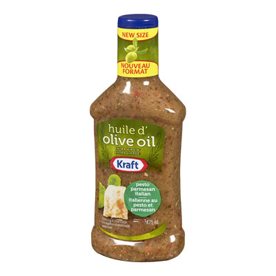 KRAFT  DRESSING PESTO PARMESAN ITALIAN WITH EXTRA VIRGIN OLIVE OIL