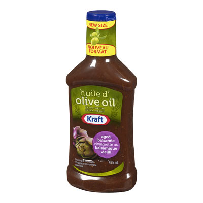 KRAFT  DRESSING AGED BALSAMIC VINAIGRETTE WITH EXTRA VIRGIN OLIVE OIL