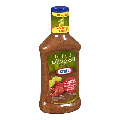KRAFT  DRESSING SUN DRIED TOMATO ITALIAN WITH EXTRA VIRGIN OLIVE OIL