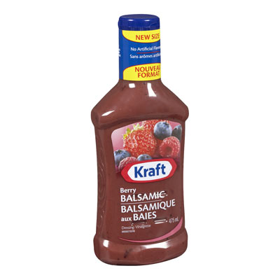 KRAFT Vinaigrette Balsamique aux baies
