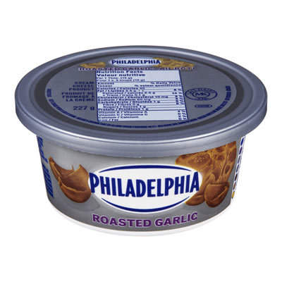 PHILADELPHIA Produit de fromage à la crème Ail grillé