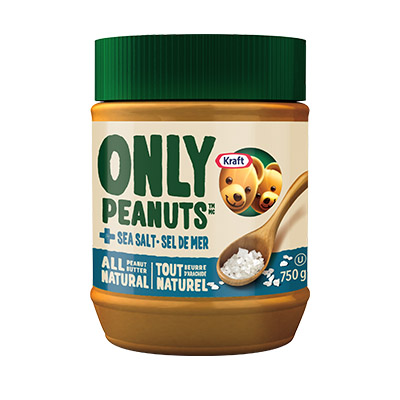 KRAFT All Natural Peanut Butter with Sea Salt 750 g