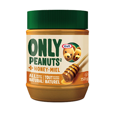 KRAFT All Natural Peanut Butter with Honey 750 g
