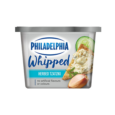 PHILADELPHIA WHIPPED CREAM CHEESE HERBED TZATZIKI 227G