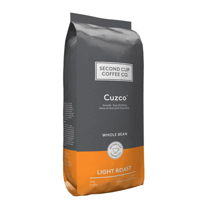 SECOND CUP 312 GR COFFEE-WHOLE BEANS  CUZCO     1 BAG/POUCH EACH