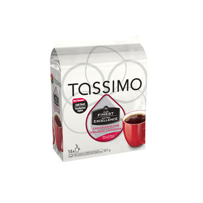 TASSIMO 107 GR OUR FINEST T DISC CAPSULE COFFEE-GROUND  COFFEE     1 WRAPPER EACH