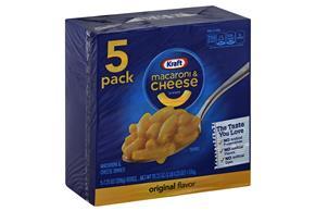 Kraft Original Flavor Macaroni & Cheese Dinner 5-7.25 oz. Boxes