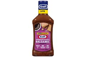 KRAFT Parmesan Asiago Balsamic Vinaigrette Light Dressing 16 oz Bottle