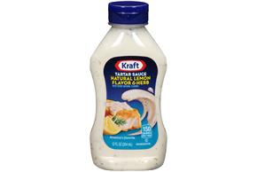Kraft Natural Lemon Flavor & Herb Tartar Sauce 12 fl. oz. Bottle