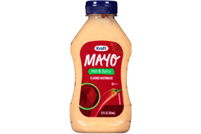 KRAFT Mayonnaise Hot 'N  Spicy 12 oz Bottle