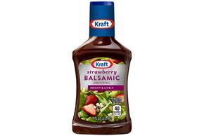 KRAFT Strawberry Vinaigrette w/ Aged Balsamic Vinegar 8 oz Bottle