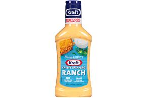 Kraft Velveeta Cheesy Jalapeno Ranch Dressing & Dip 15.8 fl. oz. Bottle
