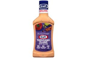 KRAFT Thousand Island w/Bacon Dressing 16 oz Bottle