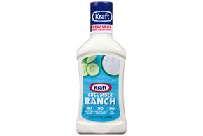 KRAFT Cucumber Ranch Dressing 16 oz Bottle