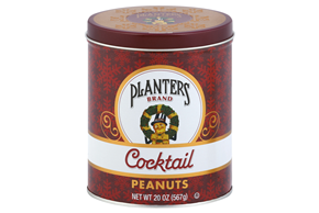 Planters Brand Cocktail Peanuts 20 oz. Canister