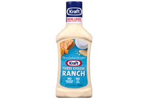 KRAFT Three Cheese Ranch Dressing 16 oz Bottle