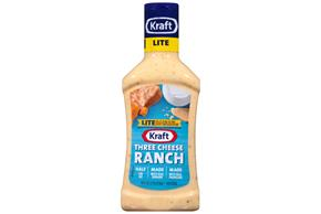 KRAFT Three Cheese Ranch Light Dressing 16 oz Bottle