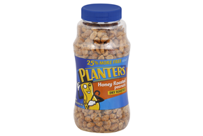 PLANTERS Dry Roasted and Honey Roasted Peanuts 25% more free 20 oz