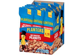 Planters Dry Roasted Peanuts 18-1.75 oz. Packs
