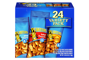 Planters Variety Pack Salted Cashews, Salted Peanuts, Honey Roasted Peanuts 24 pack Pouches