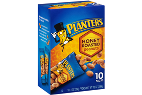 Planters Honey Roasted Peanuts 10-1 oz. Packs