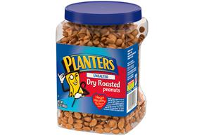 PLANTERS Unsalted Dry Roasted Peanuts 35 oz