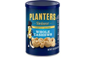 PLANTERS Lightly Saled Deluxe Whole Cashews 18.25 oz