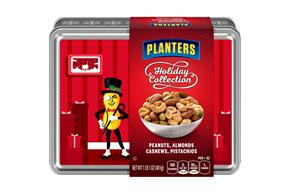 Planters Holiday Collection Peanuts, Almonds, Cashews & Pistachios 17 oz. Tin
