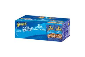 Planters Salted 1 Oz Cashews 24 Ct Box
