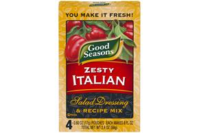 Good Seasons Zesty Italian Salad Dressing & Recipe Mix 2.4 Oz Box
