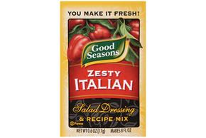 Good Seasons Zesty Italian  Salad Dressing & Recipe Mix .6 Oz Packet