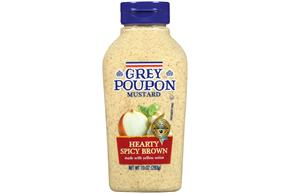 Grey Poupon Hearty Spicy Brown Mustard 10 Oz Squeeze Bottle