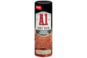 A.1. Cracked Peppercorn Dry Rub 4.5 oz Shaker