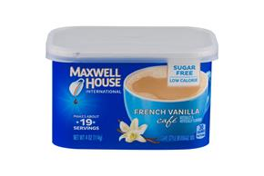 Maxwell House International Cafe Sugar Free French Vanilla Cafe-Style Beverage Mix 4 oz. Tub