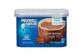 Maxwell House International Suisse Mocha Sugar Free Café 4.1 oz Canister