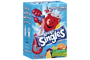 Kool-Aid Singles Tropical Punch 12 Ct Soft Drink Mix 6.6 Oz Box