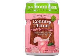 COUNTRY TIME Pink Lemonade Sugar Sweetened Powdered Soft Drink 23.9 oz. Cannister