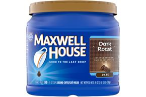 Maxwell House Dark Roast Ground Coffee 28 oz. Canister