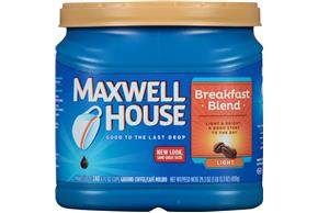 Maxwell House Breakfast Blend Ground Coffee 29.3 oz. Canister
