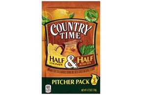 Country Time Half Lemonade & Half Iced Tea Drink Mix 4.72 oz. Pouch