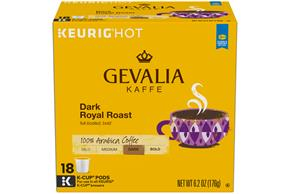Gevalia Dark Royal Roast Coffee 6.20 oz. Box