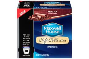Maxwell House Cafe Collection Mocha Coffee Single Serve Cups 18 ct. Box