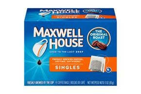 Maxwell House Instant Bags 19 Ct Coffee Singles 3 Oz Box