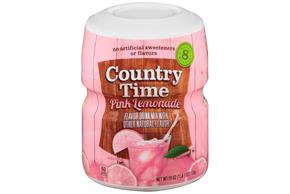 COUNTRY TIME Pink Lemonade Sugar Sweetened Powdered Soft Drink 19 oz. Cannister