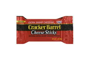 Cracker Barrel 1 Oz Natural Cheese-Sticks  Extra Sharp Cheddar     14 Box/Carton Inner Pack