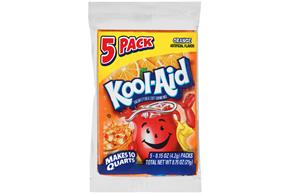 Kool-Aid(R) Orange Unsweetened Soft Drink Mix 5-0.15 oz. Packets