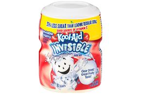 Kool-Aid Invisible Cherry Sugar Sweetened Soft Drink Mix 19 Oz Canister