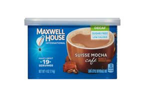 Maxwell House International Sugar Free Suisse Mocha Cafe Decaf 4 Oz Canister